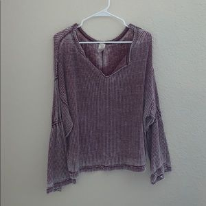 Free People bell sleeve thermal